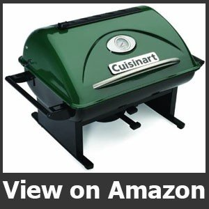 """Cuisinart CCG-100 Portable, 17.7"""" L x 18.5"""" W x 15.4"""" H, GrateLifter Charcoal Grill"""