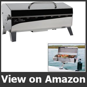 Kuuma Stow and Go 160 Propane Grill for pontoon boat