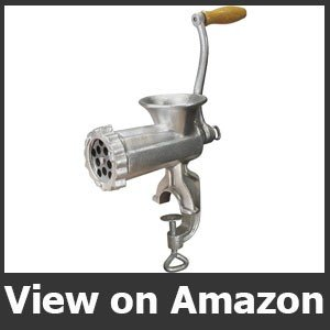 Weston #10 Manual Tinned Meat Grinder and Sausage Stuffer