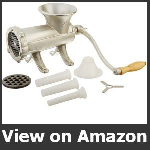 Weston #22 Manual Tinned Manual Meat Grinder and Sausage Stuffer